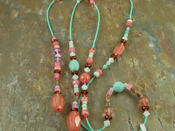 Handcrafted Semi Precious NecklaceLariat Me -0