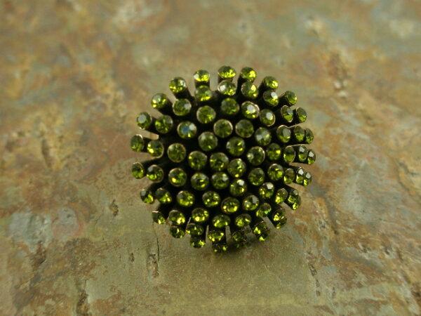 Lime Burst Crystal Fashion Statement Ring-0