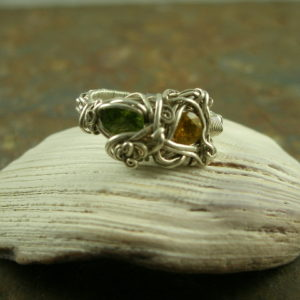 All Wrapped Up Handcrafted One of a Kind Opal Sterling Ring-0