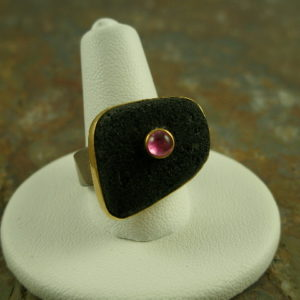 Lava Rock One of a Kind Semi Precious Stone Ring-0