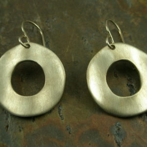 Signed in a Circle Designer Original Sterling Earrings-0