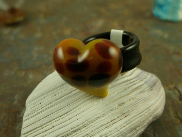 Heart of Glass Authentic Murano Glass Ring-0