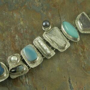 Artisan Sterling Stone BraceletsShelly 6 -0