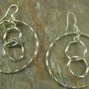 Rope it In Handcrafted Native American Sterling Earrings-0