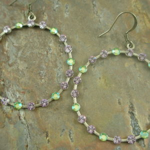 Pixie Dust Fashion Crystal Hoop Earrings-0