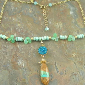 Sophie One of a Kind Semi Precious Necklace-0