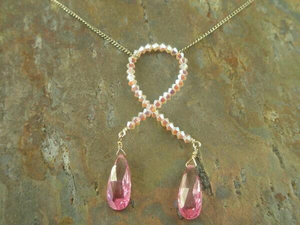 Awareness Handmade Crystal Necklace-0