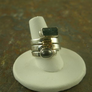 Towers Designer Sterling and Stone Ring-0