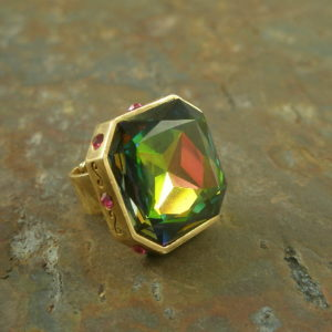 Color Therapy Fashion Statement Ring-0