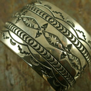 Mountain Girl Native American Sterling Cuff Bracelet-0
