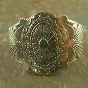 Prairie Girl Native American Sterling Cuff Bracelet-0