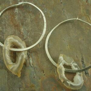 Holy Geode! Handmade Unique Hoop Earrings-0