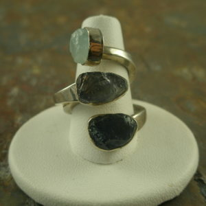 Left/Right Designer One of a Kind Sterling Statement Ring-0