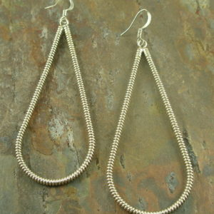 Rope 'Um Native American Hand Crafted Sterling Earrings-0