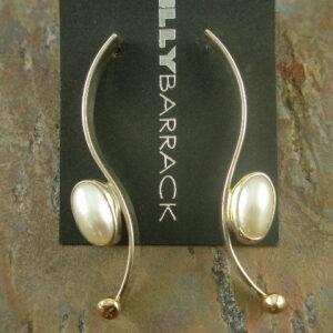 Elegance Designer Sterling Pearl Statement Earrings -0