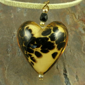 Love Murano Style Authentic Glass Pendant-0