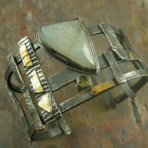 Dizzy Drusy Designer Statement Bracelet-0