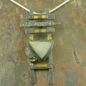 Drusy Temple Designer One of a Kind Pendant-0