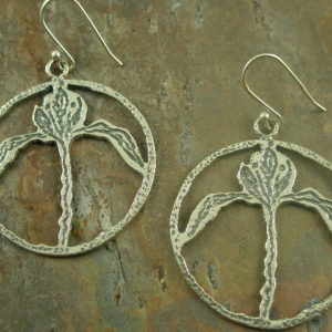 Peace Lily Handmade Sterling Earrings-0