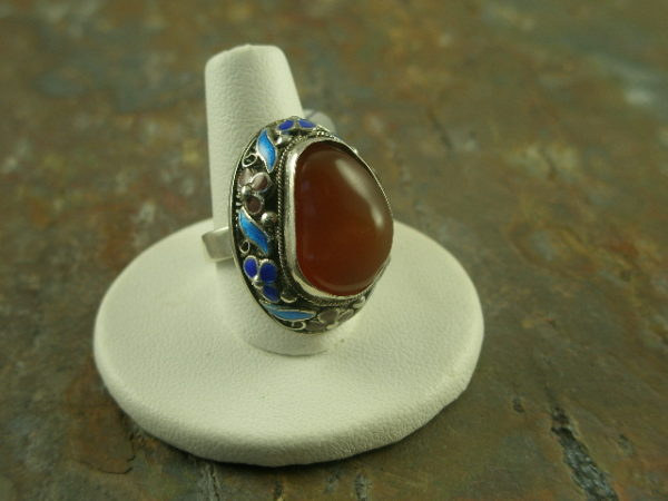 Tiny Tibetan Unique Stone Ring-0