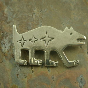 Walk it Out Native American Sterling Pin-0