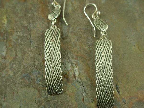 Apache Authentic Native American Sterling Earrings-0