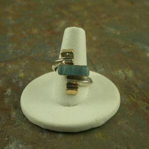 Line Um Up Designer Original Sterling Stone Ring-0