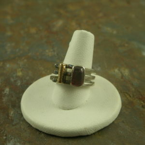Triple Hitter Designer Sterling Semi Precious Ring-0