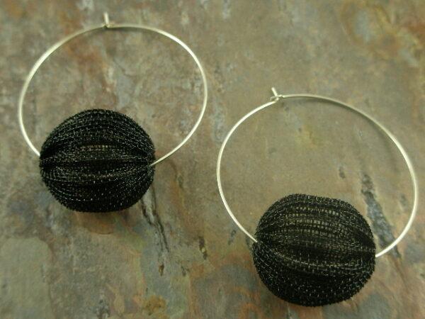 Crochet Wire Unique Fashion Hoop Earrings-0