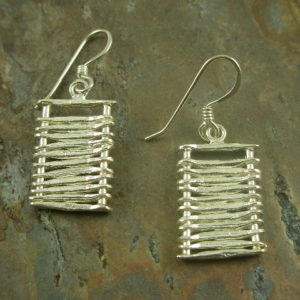 Ladder Up Unique Sterling Earrings-0