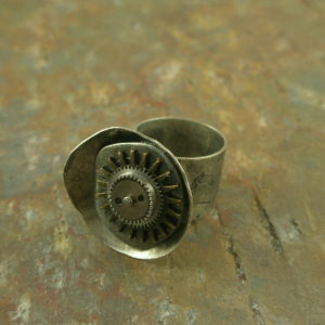 Like Clockwork Handcrafted One of a Kind Ring-0