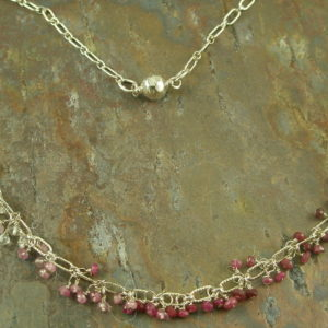 Water to Wine Handcrafted Semi Precious Necklace-0