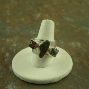 Garnet in the Rough Designer Semi Precious Ring-0