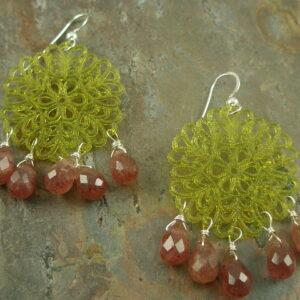 Felicity Antique Resin Statement Earrings-0