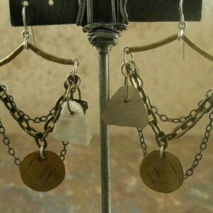 One Of A Kind Brass Chandelier EarringsSwinging-0