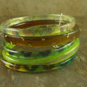 Elegant Jungle Resin Bracelet-0