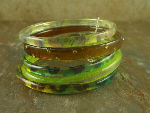 Elegant Jungle Resin Bracelet-0