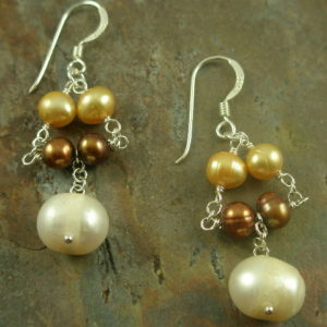 Two Tears Multi Pearl Sterling Earring-0
