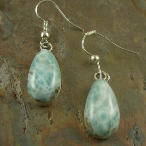 Makes My Brown Eyes Blue Semi Precious Stone Earrings-0