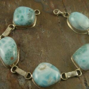 St. Marten Blue Handcrafted Stone Bracelet-0