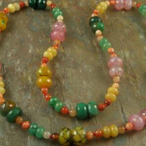 Jellybeans Handmade Semi Precious Stone Necklaces-0