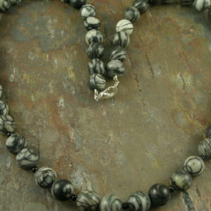 The Zebra Unusual Stone Necklace-0