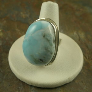 Blue Finger Handmade Semi Precious Stone Ring -0