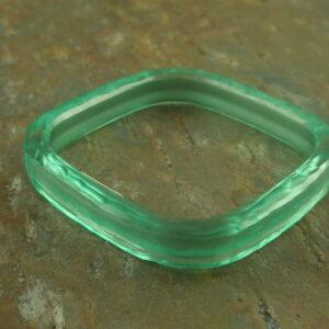 Aqua Italian Resin Bracelet-0