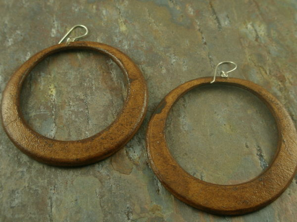 Brown Betty Handcrafted Leather Earrings-0