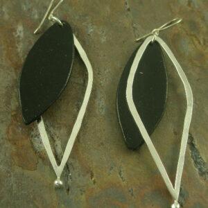 Make Mine a Double Handmade LeatherEarring-0