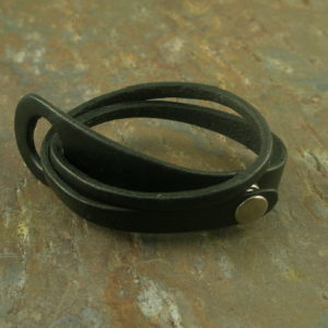 Double Wrap Handcrafted LeatherBracelet-0
