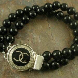 Noir Authentic Chanel Designer Bracelet-0