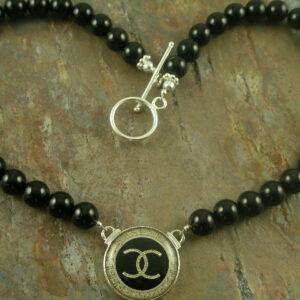 Noir Chanel Designer Bead Necklaces-0