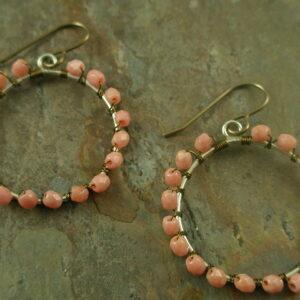 Ava Handmade Czech Glass Earrings-0